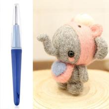 Plastic 3/7 Needles Felting Needle Handle Holder Embroidery Needle Pen Felted Wool Felting Craft Tool DIY Punch Needle Set