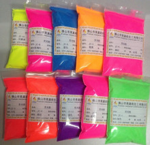mix color fluorescent powder, fluorescent pigment samples color:pink,orange,purple,blue,yellow,red,etc..