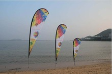 90*200cm Advertising Flying Flag, Beach Flags, Teardrop Flags (printing one side, other sided in a reverse image) ground spike(China)