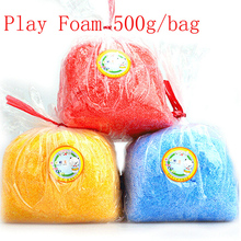 Play foam 500g/bag Light Soft Colored Modeling Clay Model Magic Air Dry slime Plasticine slime Play Dough toys for kids(China)