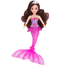 About 32cm 3D Eye Lighten Mermaid Doll Swimming Wig For Mermaid Toy For Girl Movable Joint Tail Swing Moxie Doll Dream Girl Toy