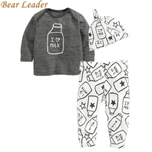 Buy Bear Leader Baby Clothing Sets 2017 Autumn Baby Boys Clothes Long Sleeve T-shirt+Pants+Hats 3Pcs Suits Children Clothing for $8.81 in AliExpress store