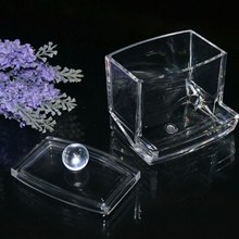 Urijk 2017 Hot Sale Creative Clear Acrylic Storage Box Holder Box Transparent Cotton Swabs Stick Cosmetic Makeup Organizer Case(China)