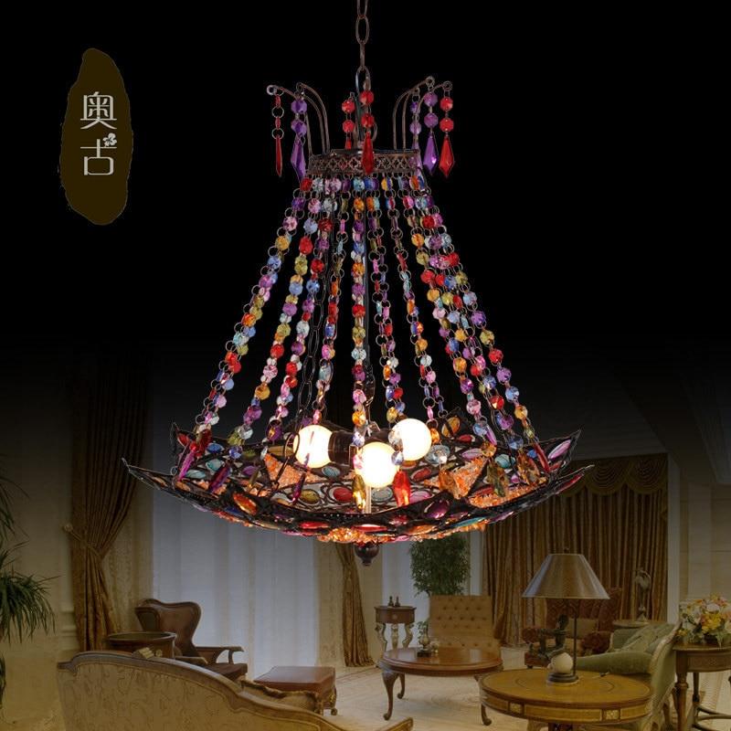 European retro restaurant acrylic chandelier Tiffany chandelier creative bedroom hallway corridor study D-41<br>
