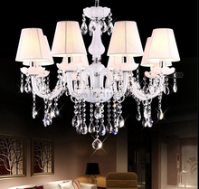 High Quality Crystal Chandelier Living Room Bedroom Crystal White Chandelier. 3/4/5/6/8/10 Arm