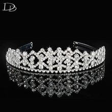 AAA crystal wedding hair accessories diadem for women white gold color hair bridal crown crystal jewel ladies dress gift F36