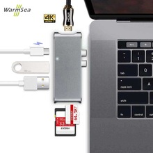 USB Type C Hub HDMI USB C Hub Adapter dongle dock thunderbolt 3 combo with USB 3.0 ports,SD slot Micro SD Card for MacBook Pro