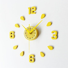 New Arrival Lemon Design sticker EVA 30CM-60CM kitchen wall clock colour large decorative 3d diy wall clock big