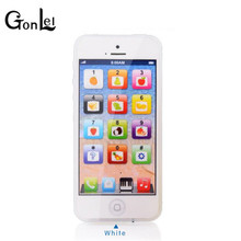 GonLeI Kid Cellphone with LED Y-phone English Learning Mobile Phone Baby Mobile Early Educational Learning Toys Electronic Phone(China)