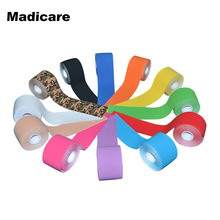 Stick Adhesive Elastic Cotton Kinesiology Tape Sport 5cmX5m Muscle Tape Waterproof Protector Knee Pads Sports Tape Basketball