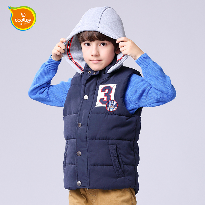 DOOLLEY Boy Winter Waistcoat Kids Cotton Vest Coat Size 120-170 cm Christmas / New Year Clothing For Children<br><br>Aliexpress