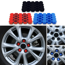 20pcs Car Styling Wheel Nuts Covers For Ford Focus 2 1 Fiesta Mondeo 4 3 Transit Fusion Kuga Ranger Mustang KA S-max Armrest(China)