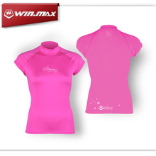 Short sleeves swimwear surf clothing diving suits shirt swim suit spearfishing kitesurf rashguard women rash guard