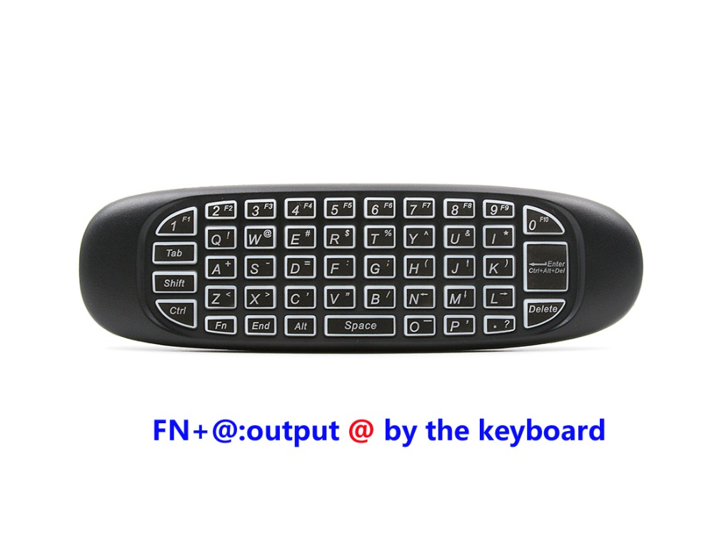 2.4GHz Air Mouse Wireless Keyboard Handheld Play Game Remote Control Smart TV BOX PC black 15 11