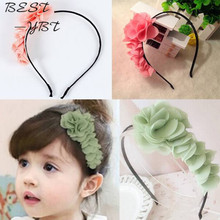 1PCS 2014 Fashion Design Girls Toddlers Kids Flower Headband Hairband Hair Accessories Wear Bow