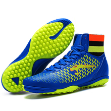 New Adults Men's Kids Boys Soccer Indoor Cleats Shoes High-top TF/FG Football Boots Training Sports Sneakers Shoes