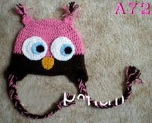 Free shipping Baby Winter Hat Free Crochet Pattern Animal Earflap Hat , Knitted Owl Hat