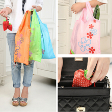 Eco Storage Handbag Strawberry Foldable Shopping Bags Beautiful Reusable BagHigh Quality Hot Selling(China)