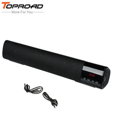 TOPROAD 10W Wireless Subwoofer Bluetooth Speaker Soundbar Receiver Stereo TF FM USB Super Bass Altavoz Speakers For Cellphone PC(China)