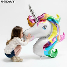 OCDAY 125*88cm Colorful Horse Balloon Foil Balloon Party Supplies Attractive Clever Animal Decorations Christmas Decoration New(China)