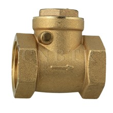 CNBTR 1 Inch BSPP Brass Thread Female Swing Check Valve DN25 with 32mm Thread