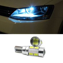 2 X T10 LED W5W Car LED Auto Lamp Light bulbs with Projector Lens for kia sportage cerato soul sorento Forte Carens k2 k3