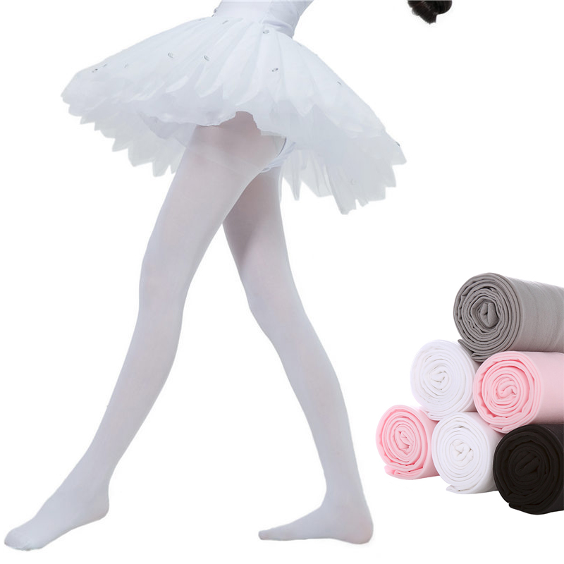 Silky Girls Full Foot Ballet Dance Tights In 4 Colours Age 3-13