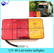 2Pcs 12V 40 LED Taillight Truck Car Van Lamp Tail Trailer Light E Marked universal for car free shipping(China)