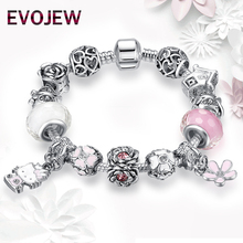European Brand Lovely Silver 925 Cute Cartoon&Daisy Charm Beads Bracelets Bangles for Women Children Girl Fashion DIY Jewelry