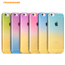 CRIAR HOUSE Fashion Gradual Change Gradient Color Soft TPU Silicone Back Case Cover For iPhone 4G 4S 4s SE 5G 5s 6s 6 Plus Cases(China)