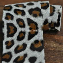 Vertiginous Leopard Fur White Base The new transmission foil nail decals stickers nail jewelry YC456