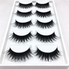 5 Pairs/set  Elegant Women Ladies Makeup False Eyelashes Long Natural DIY Soft Black Party Flase Eye Lashes Extension 2017 Hot