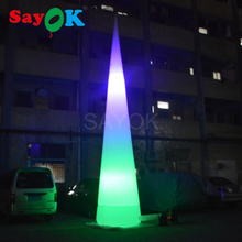 7m/23ft Tall Advertising Led Cone,led light traffic cone, Led Cone Inflatable for sale