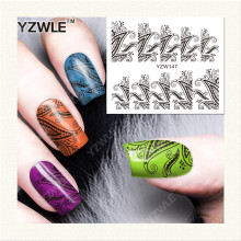YZWLE 1 Sheet DIY Decals Nails Art Water Transfer Printing Stickers Accessories For Manicure Salon (YZW-147)