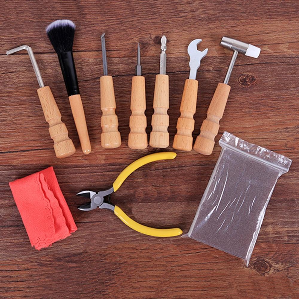 MoonEmbassy Guitar Tool Kit Acoustic Guitar Accessories Repair Cleaning Tools Kit<br>