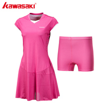 Kawasaki Brand Ladies Sport Tennis Dress for Women Girls Quick Dry Breathable Solid Teniss Dresses Sportswear Blue Red SK-172701