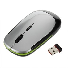 1Pc 2.4GHz USB Receiver Slim Mini Wireless Optical Mouse Mice for Computer PC Fashion Ultra-thin Mouse For Laptop Computer