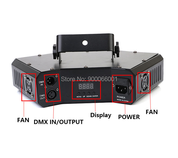 DMX disco Scanner Laser Stage Light club Dance pattern effect show LED beam Projector for home party (6)