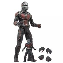 Boxed Marvel Select Superhero Ant-Man Avengers Ant Man Hank Pym Doll Figurine PVC Action Figure Resin Collection Model Toy Gifts