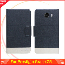 5 Colors Factory Direct!! Prestigio Grace Z5 Case Luxury Leather Anti-slid 100% Special Phone Fashion Cover Free Shipping