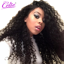 Celie Hair Deep Wave Brazilian Hair Bundles Natural Black Color Can Be Dyed 100% Remy Human Hair Weave No Tangle No Shedding