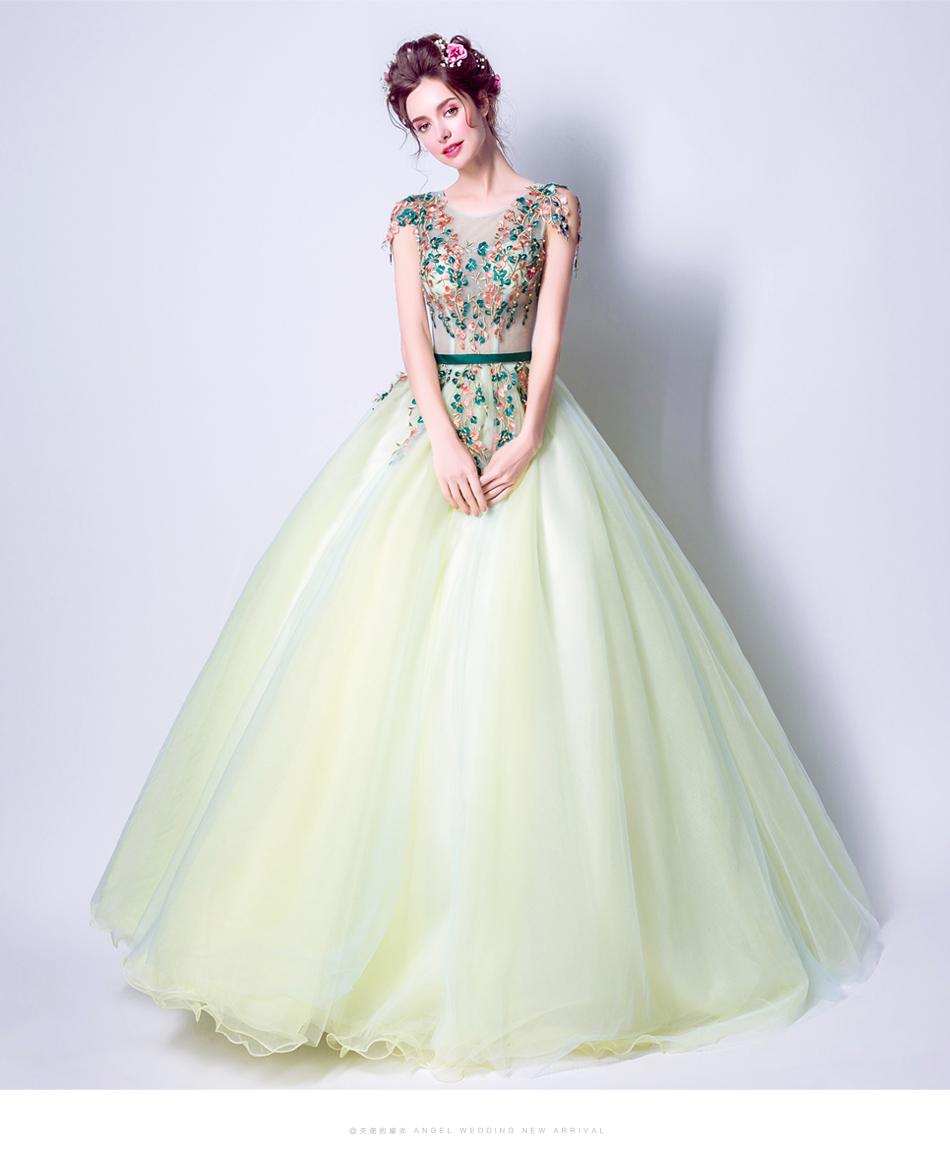 Angel Wedding Dress Marriage Bride Bridal Gown Vestido De Noiva 2017 Green, embroidery, the wizard of Oz 2217 15
