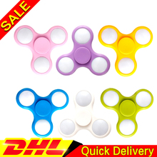 50pcs/Lot Free DHL LED Flash Light Anti Reduce Stress Fidget Toy With Switch EDC Hand Spinner ADD ADHD Autism Boring Annoying