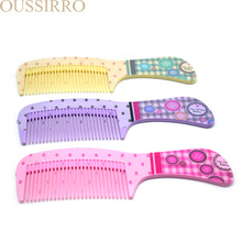 1 personal computer high quality candy color children cartoon cute practical comb, plastic portable comb