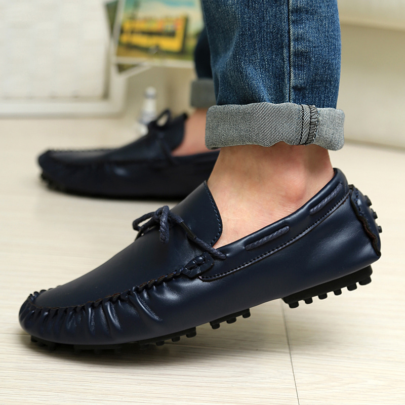 Men Genuine Leather Loafers Shoes Slip On Casual Shoes Flats mans Boat Shoes Male Oxfords Zapatillas Deportivas Hombre XK121602<br>