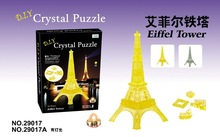New 3D Crystal Paris Tower Puzzles Children Creative DIY Puzzle Toys 24pcs In 1