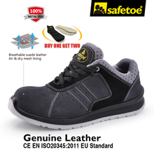 Safetoe Men Safety Shoes Work Shoes Safety Working Boots With Fiber Glass Toe Cap Metal Free Sport style Fashion For Men US 4-13(China)