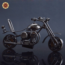 Collection Decorative Iron Motorcycle Model Creative Ornaments Old Fashion Home Decoration Metal Crafts Free Shipping