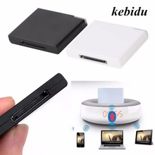 kebidu New Arrival Bluetooth v2.0 A2DP Music Receiver Adapter for iPod For iPhone 30 Pin Dock Docking Station Speaker with 1 LED(China)