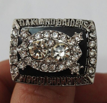 Factory direct sale 1980 Super Bowl Oakland Raiders Basketball Zinc Alloy silver plated Championship Ring Sports Replica Jewelry(China)